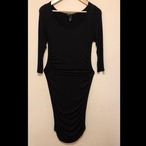 ✨ H&M Basic long sleeve midi scrunch dress